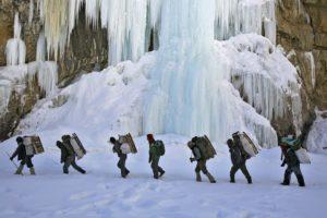 Walking on the frozen river 1
