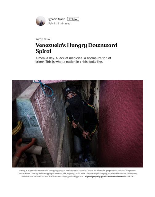 Venezuela's hungry downward spiral 5