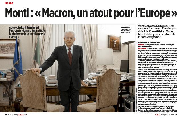 "Monti: ""Macron, un atout pour l'Europe"" 1"