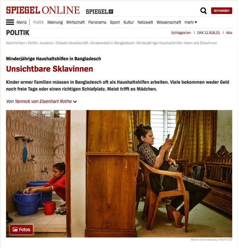 Bangladesch | Unsichtbare Sklavinnen 1
