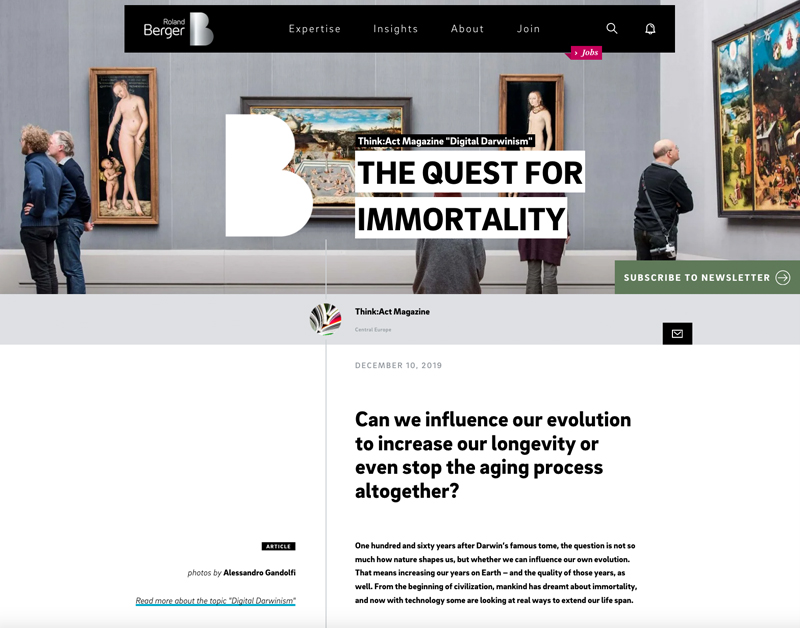 The quest for immortality 1