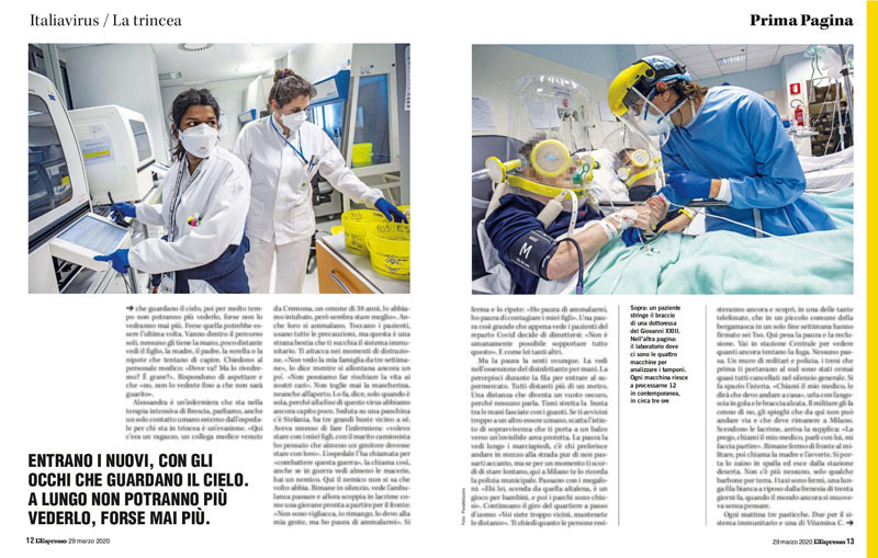 Nelle nostre mani | Italiavirus / La trincea | Bergamo. Marzo 2020 4