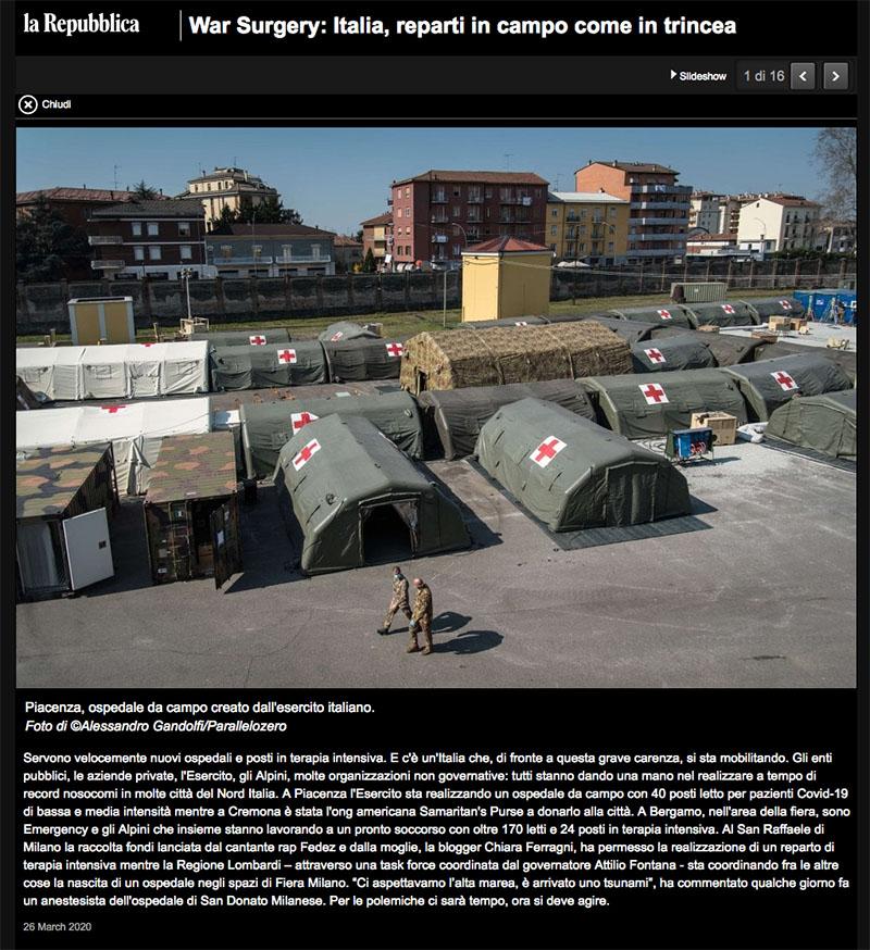 War Surgery: Italia, reparti in campo come in trincea 1