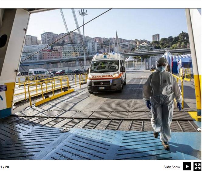 Genova. La nave che si è trasformata in un ospedale contro il Covid-19 3