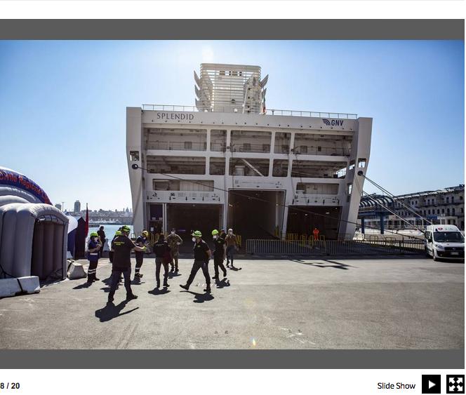 Genova. La nave che si è trasformata in un ospedale contro il Covid-19 10