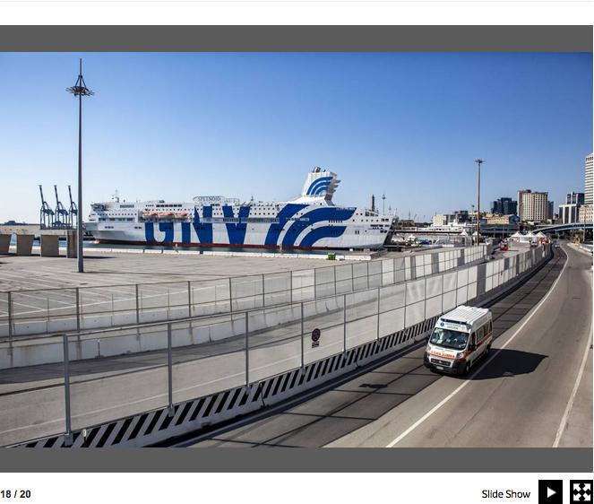 Genova. La nave che si è trasformata in un ospedale contro il Covid-19 20