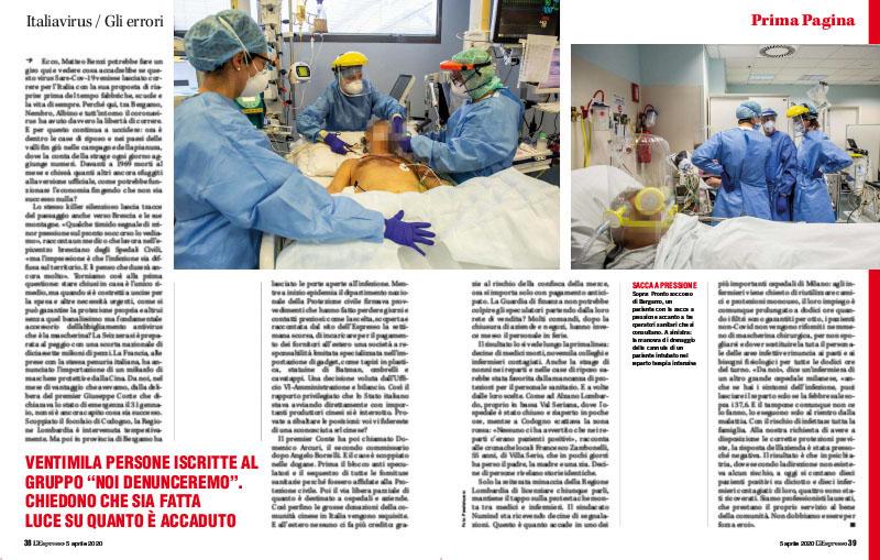 Italiavirus / Gli errori | Adesso Bergamo vuole giustizia 2
