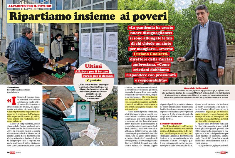 Coronavirus | Luciano Gualzetti. Ripartiamo insieme ai poveri 1
