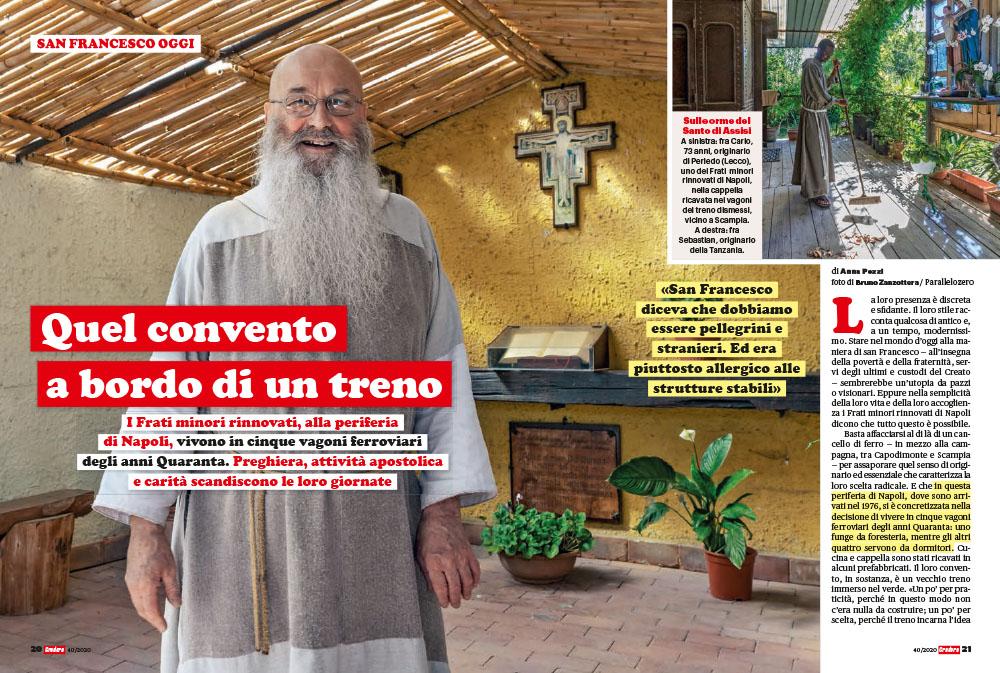 Napoli. Frati minori rinnovati | Quel convento a bordo di un treno 1