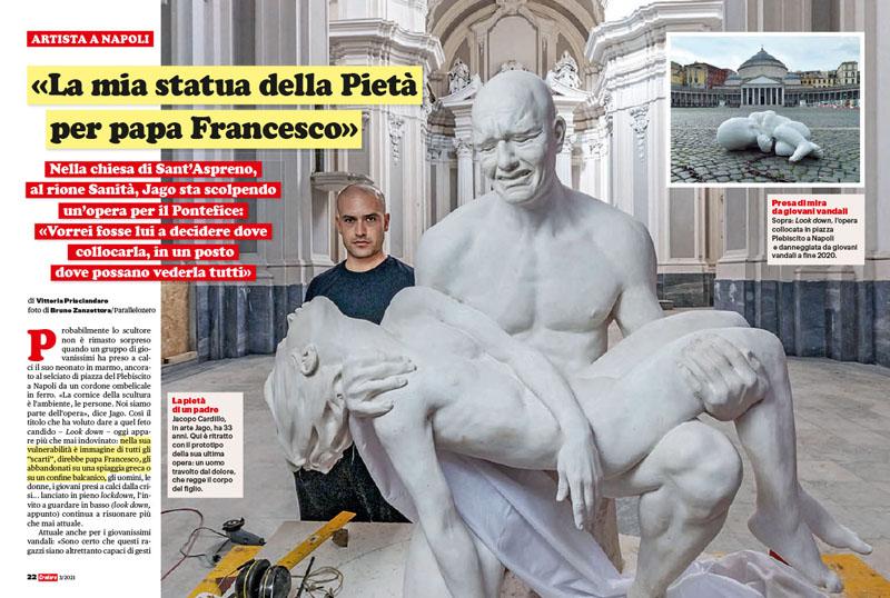 Artista a Napoli | Jago | «La mia statua della Pietà per papa Francesco» 1