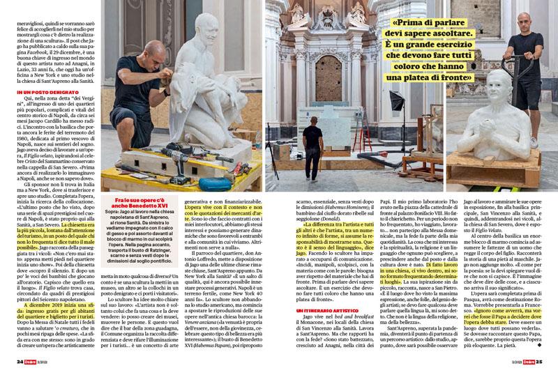 Artista a Napoli | Jago | «La mia statua della Pietà per papa Francesco» 2
