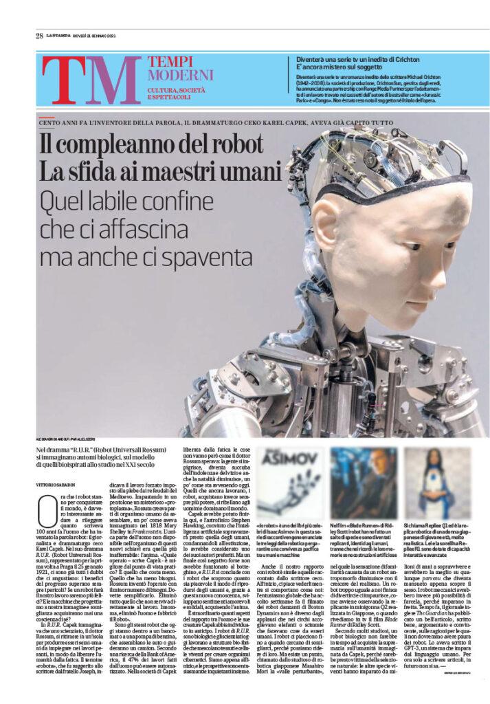 Il compleanno del robot. La sfida ai maestri umani. 1