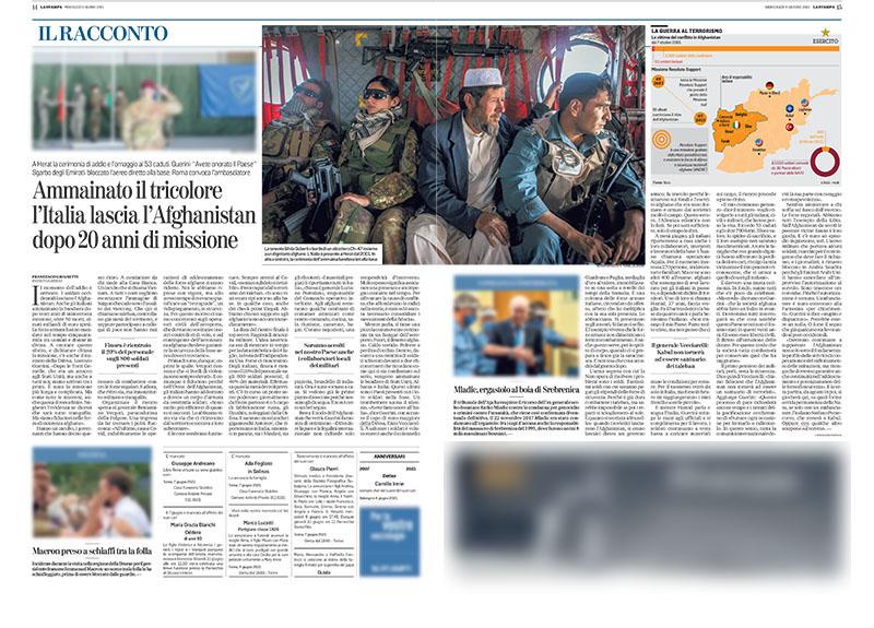 Via dall'Afghanistan: così si ammaina il tricolore 1
