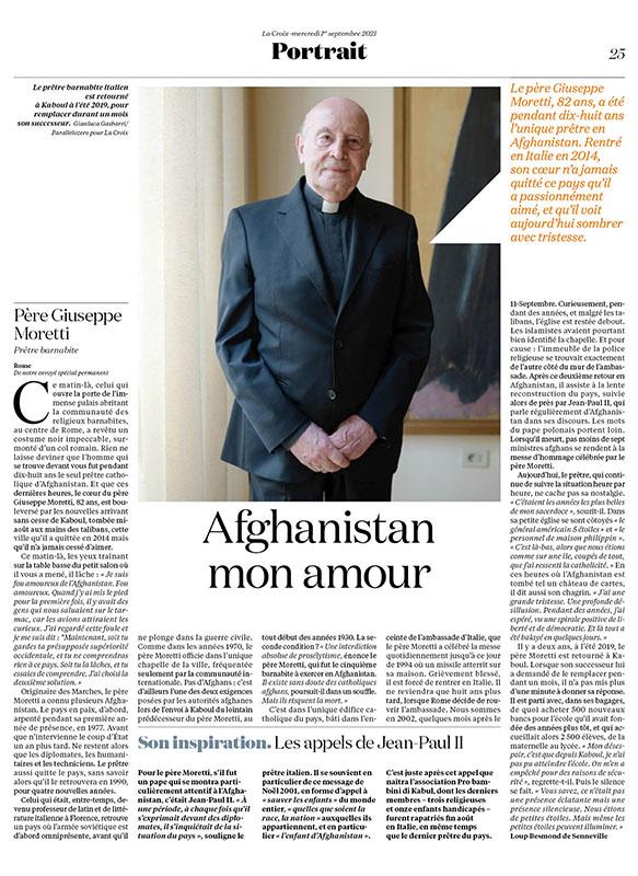 Portrait | Pére Giuseppe Moretti. Afghanistan mon amour 1